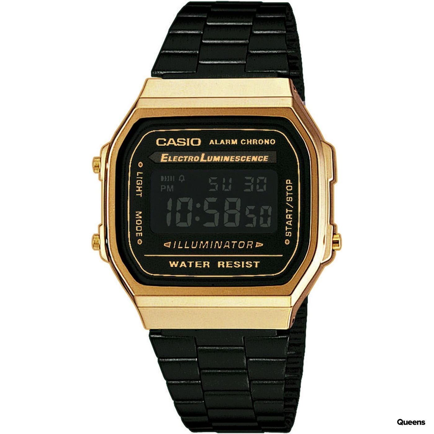 Casio A 168WEGB-1BEF gold / schwarz