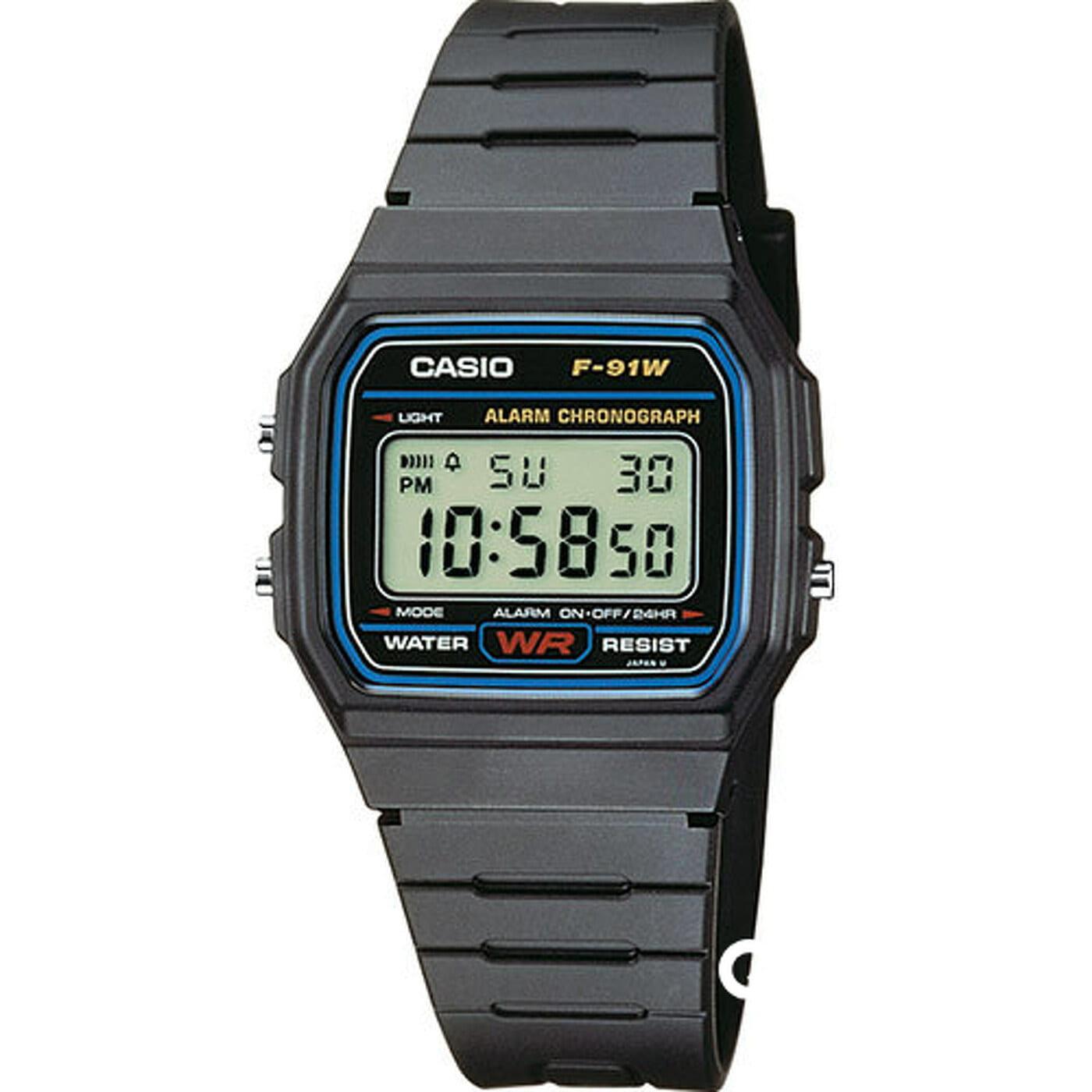 Casio F 91W-1YEG schwarz
