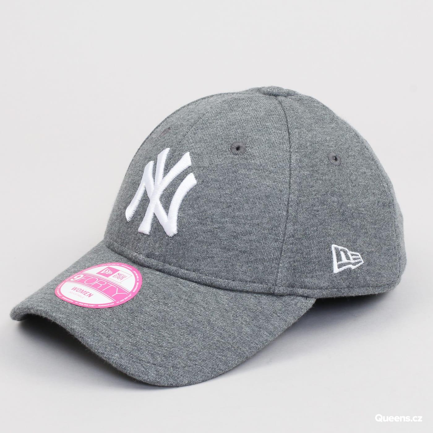 New Era W 940 Jersey Essential NY melange tmavošedá