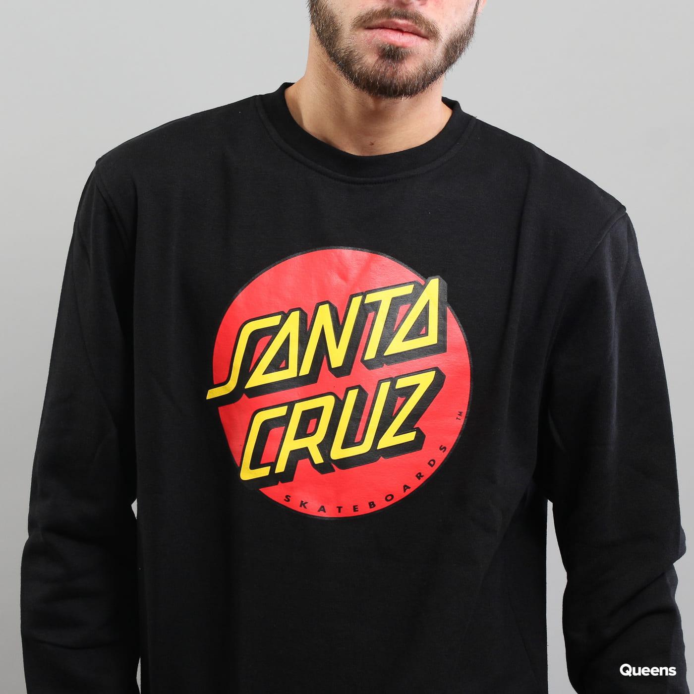Santa Cruz Classic Dot Crew čierna