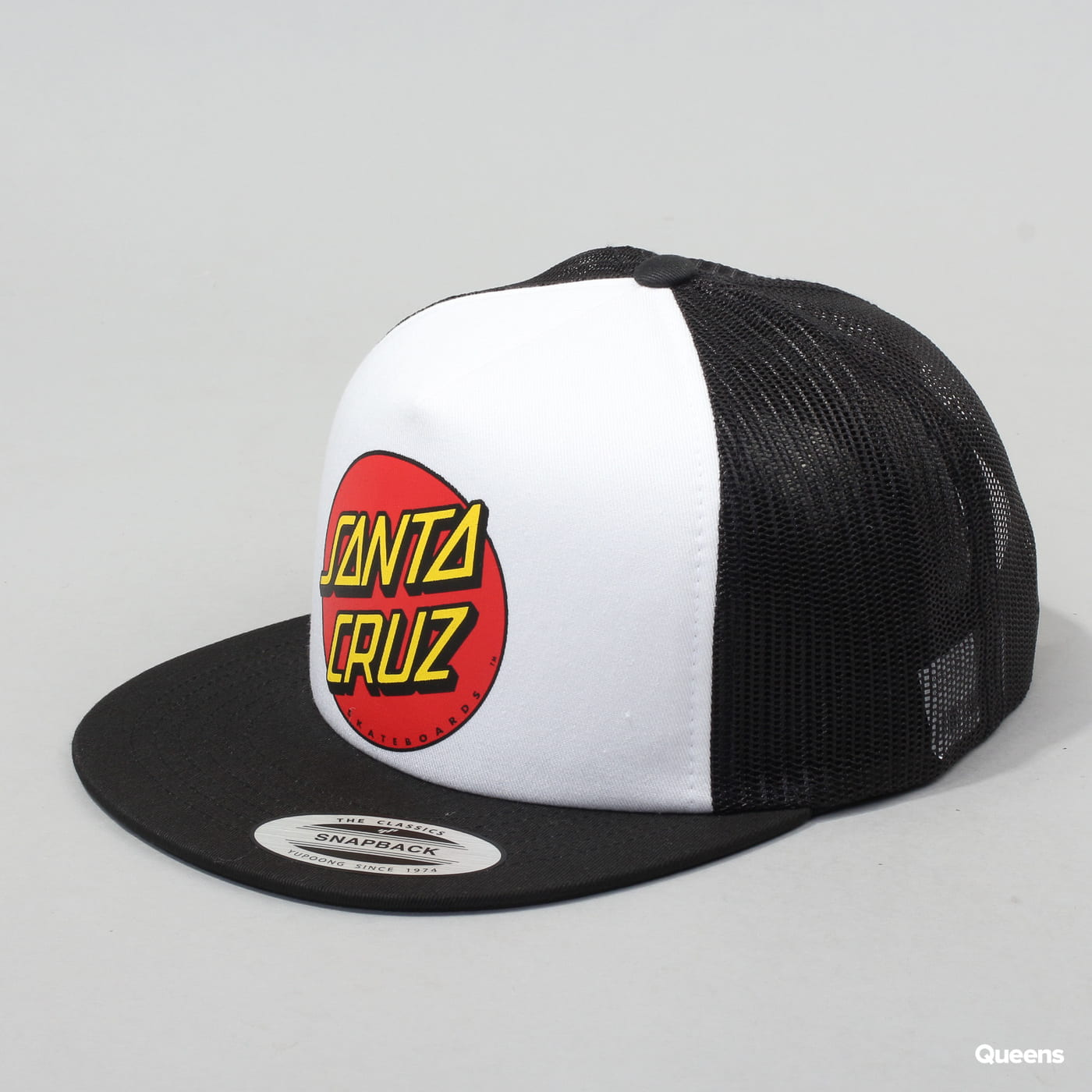 Santa Cruz Classic Dot Mesh Cap černá / bílá