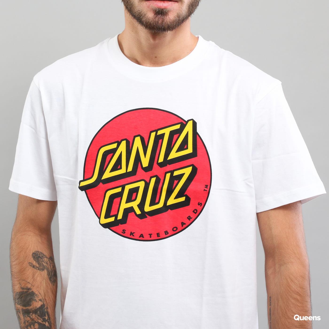 Santa Cruz Classic Dot Tee weiß