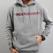 INDEPENDENT Bar Cross Hoody melange šedá