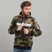 New Era Team Apparel PO Hoody Raiders camo zelená