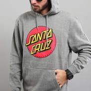 Santa Cruz Classic Dot Hoody melange šedá