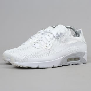 Nike For Women White Platinum Air Max 90 Ultra 2.0 Flyknit