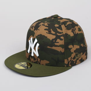 New Era 5950 Camo Team Fitted NY