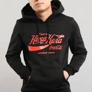 Urban Classics Coca Cola Rus Hoody černá