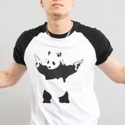 Urban Classics Banksy Panda Raglan Tee bílé / černé