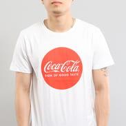 Urban Classics Coca Cola Round Logo Tee bílé