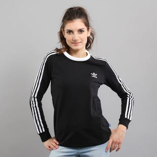 adidas 3Stripes LS Tee černé