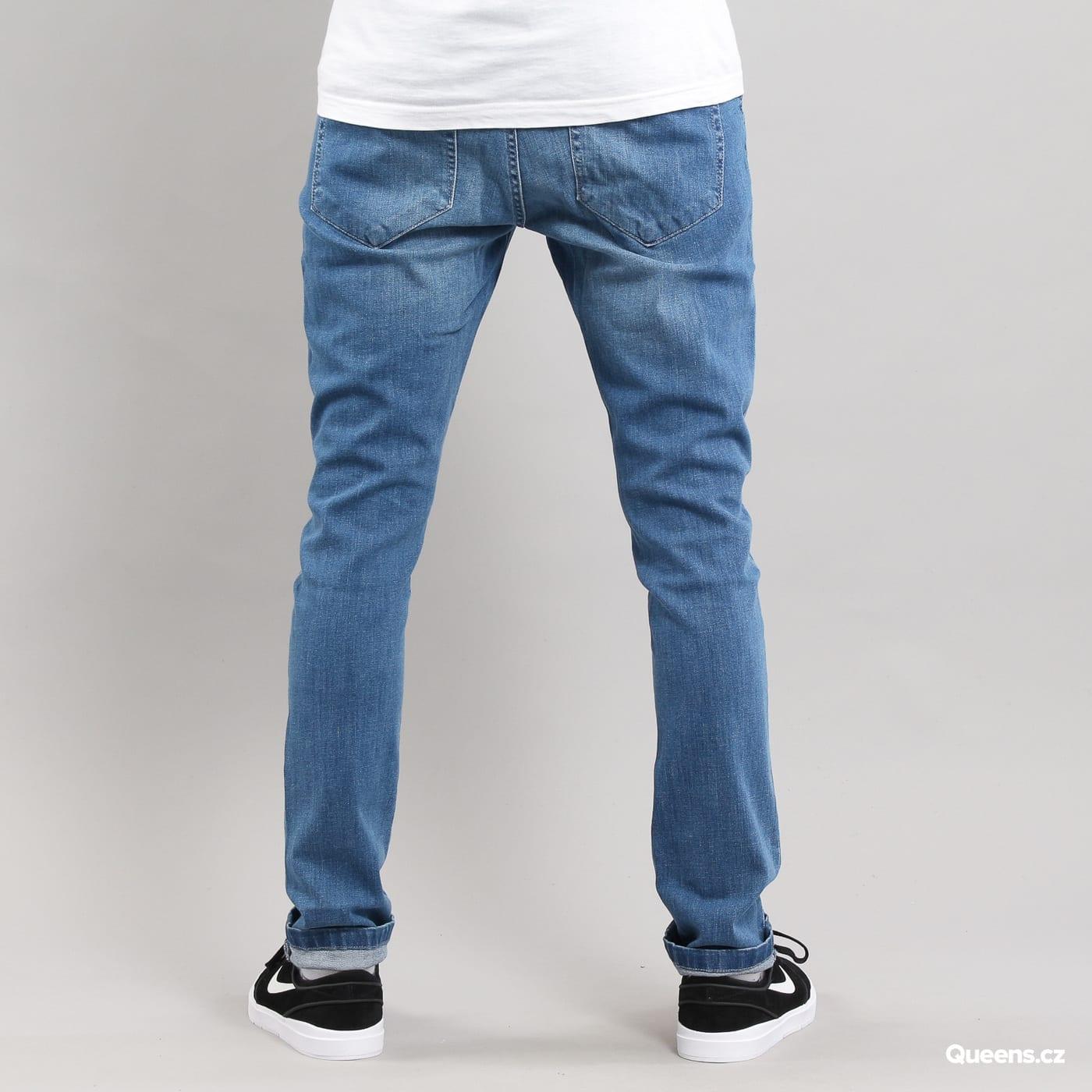 Urban Classics Slim Fit Knee Cut Denim Pant blau gewaschen