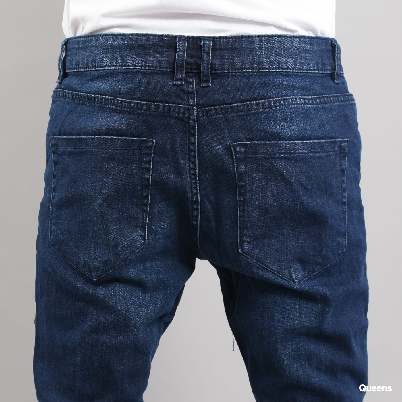 Urban Classics Slim Fit Knee Cut Denim Pant dark blue