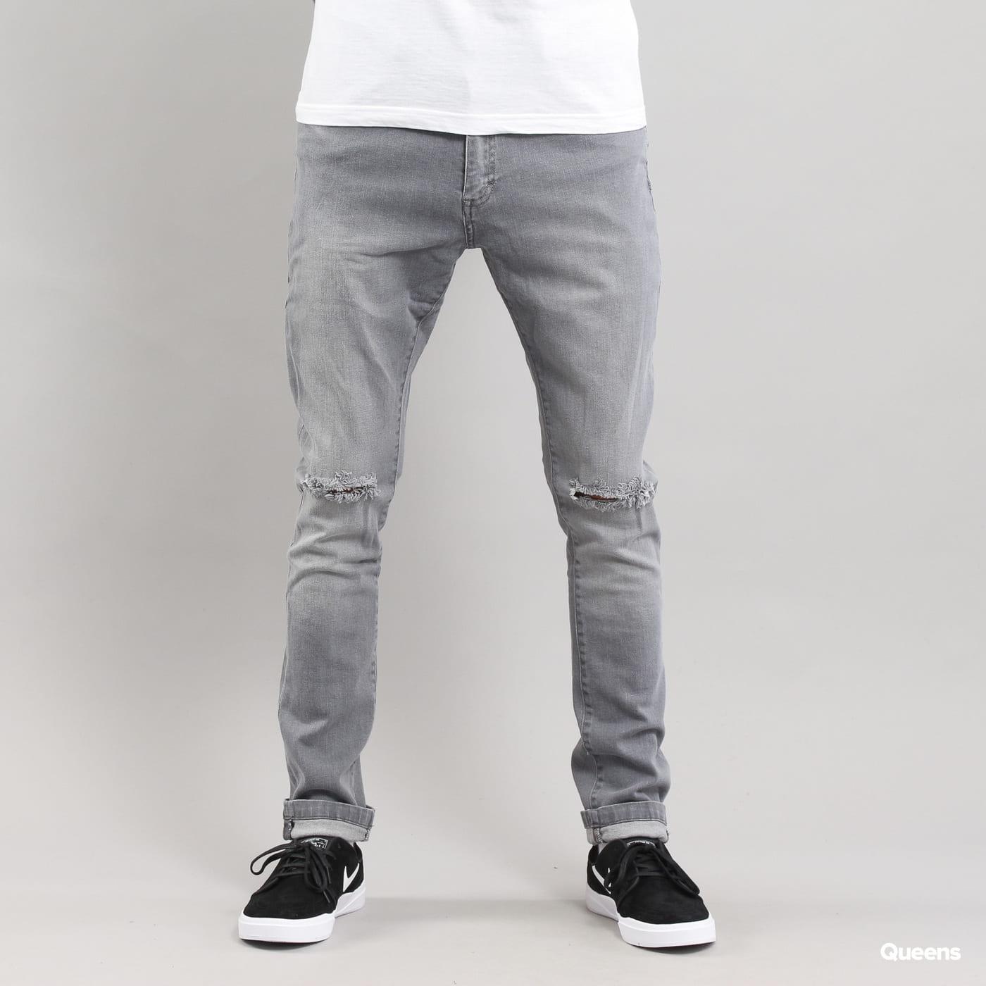 Urban Classics Slim Fit Knee Cut Denim Pant grau