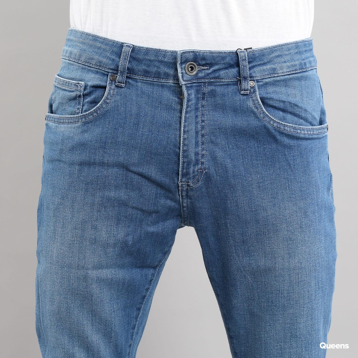 Urban Classics Slim Fit Knee Cut Denim Pant blue washed