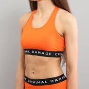 Criminal Damage Basic Bra Top oranžový