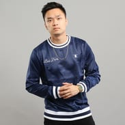 Daily Paper Satin Script Sweater navy