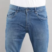 Urban Classics Slim Fit Knee Cut Denim Pant blue washed