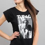 Urban Classics Ladies 2Pac Bandana Tee černé