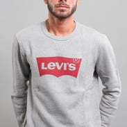 Levi's ® Graphic Crew Fleece melange šedá