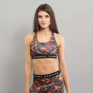 Criminal Damage Basic Bra Top Camo