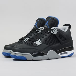 7506056845b Air Jordan 4 Retro black   game royal - matte silver