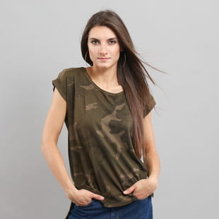 Urban Classics Ladies Camo Back Shaped Tee
