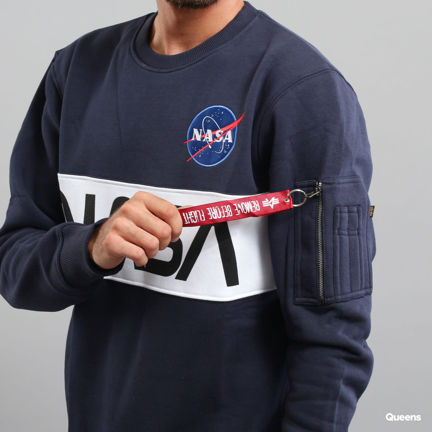 Alpha Industries NASA Inlay Sweater Marine