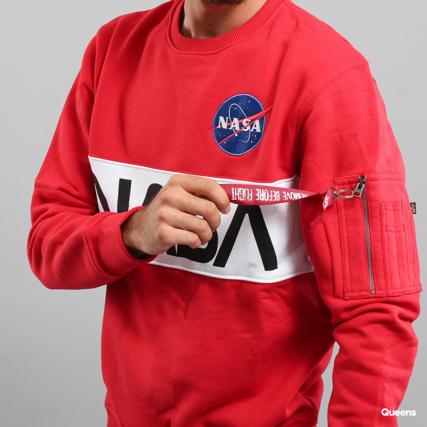 Alpha Industries NASA Inlay Sweater rot
