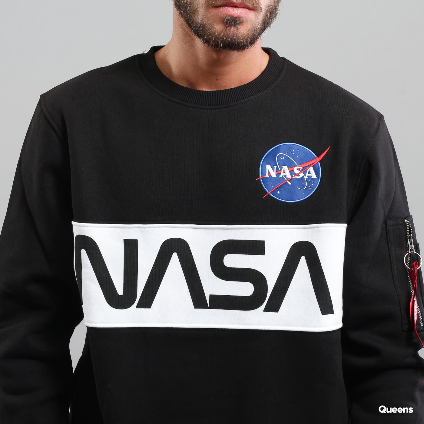 Alpha Industries NASA Inlay Sweater čierna