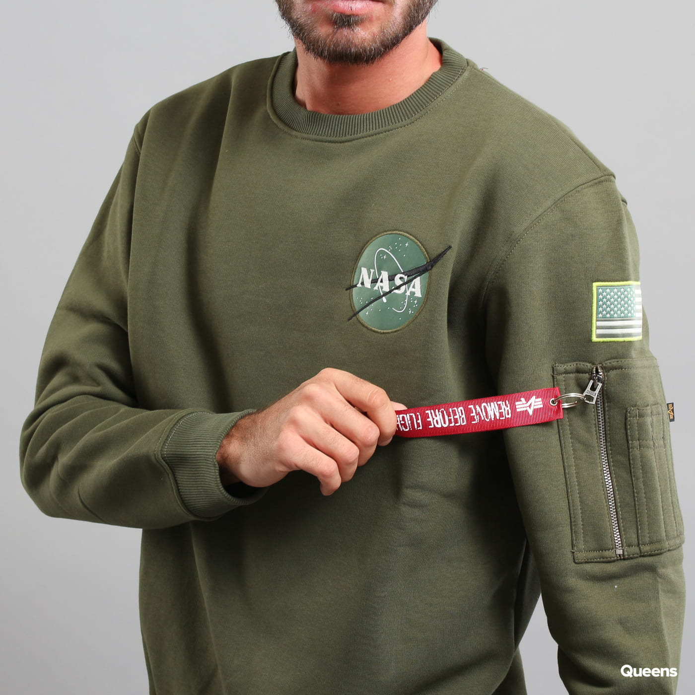 Alpha Industries Space Shuttle Sweater olive