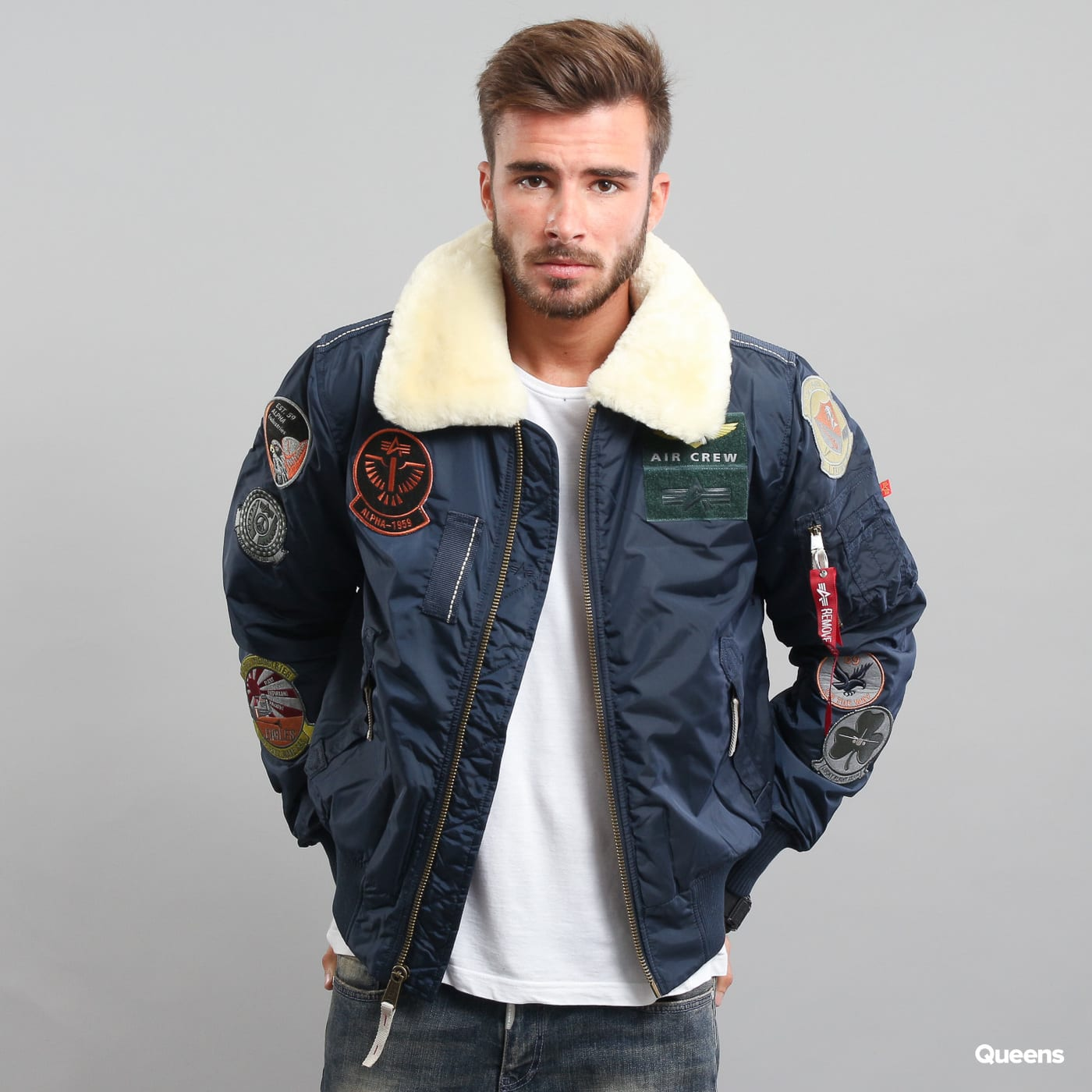 acffcc1c25 Bomber Jacket Alpha Industries Injector III Patch navy (168128 07) – Queens  💚