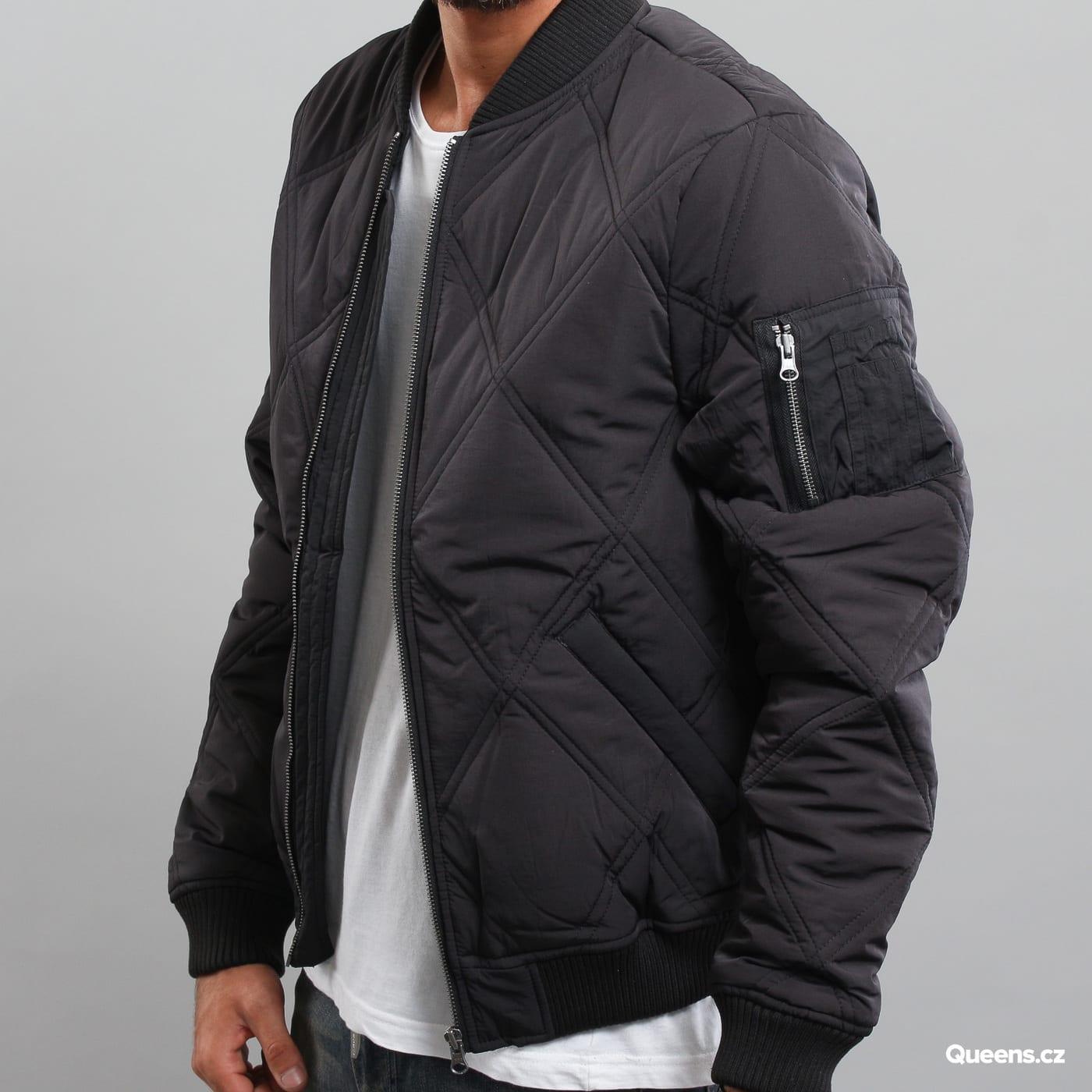 Urban Classics Big Diamond Quilt Bomber Jacket black