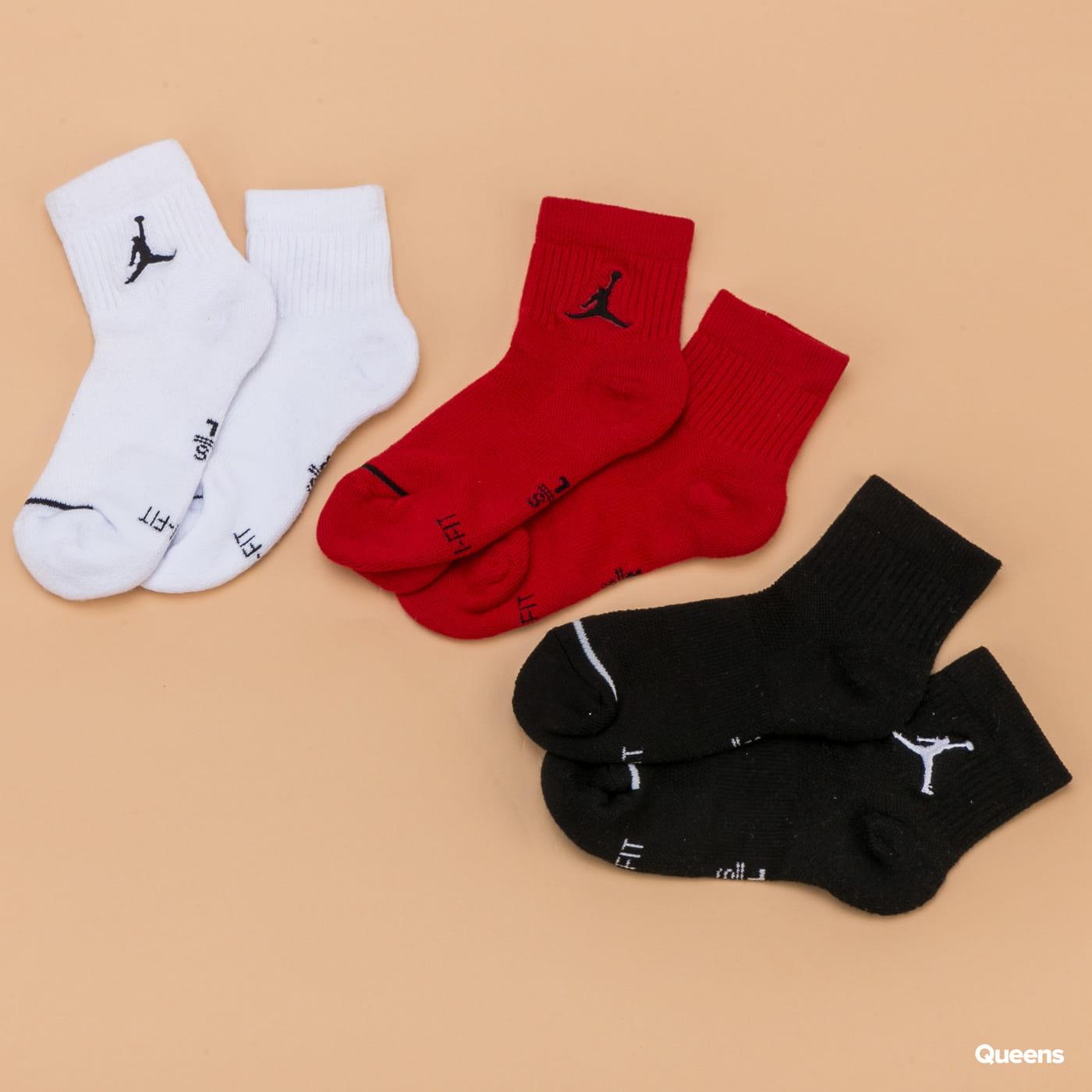 Jordan Jumpman QTR 3Pack weiß / schwarz / rot