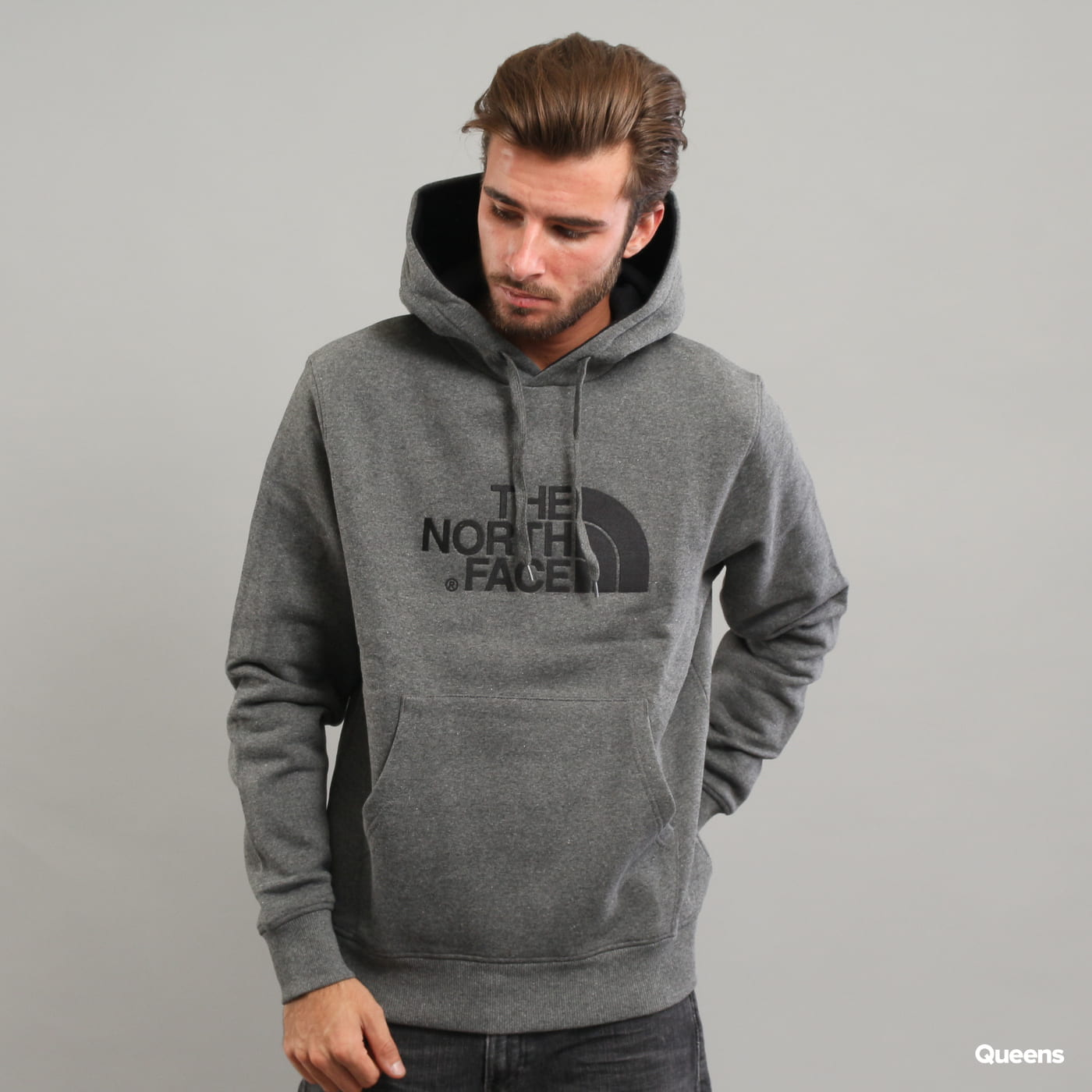 The North Face M Drew Peak Pull Hoody dunkelgrau melange