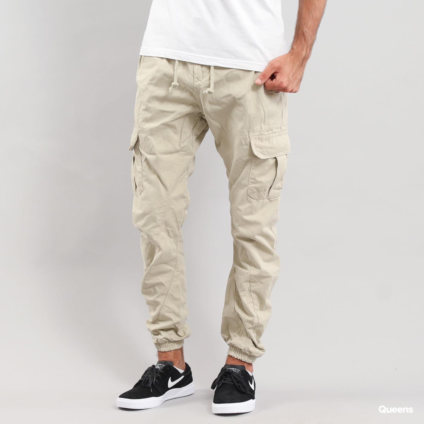 Urban Classics Cargo Jogging Pants svetlobéžové
