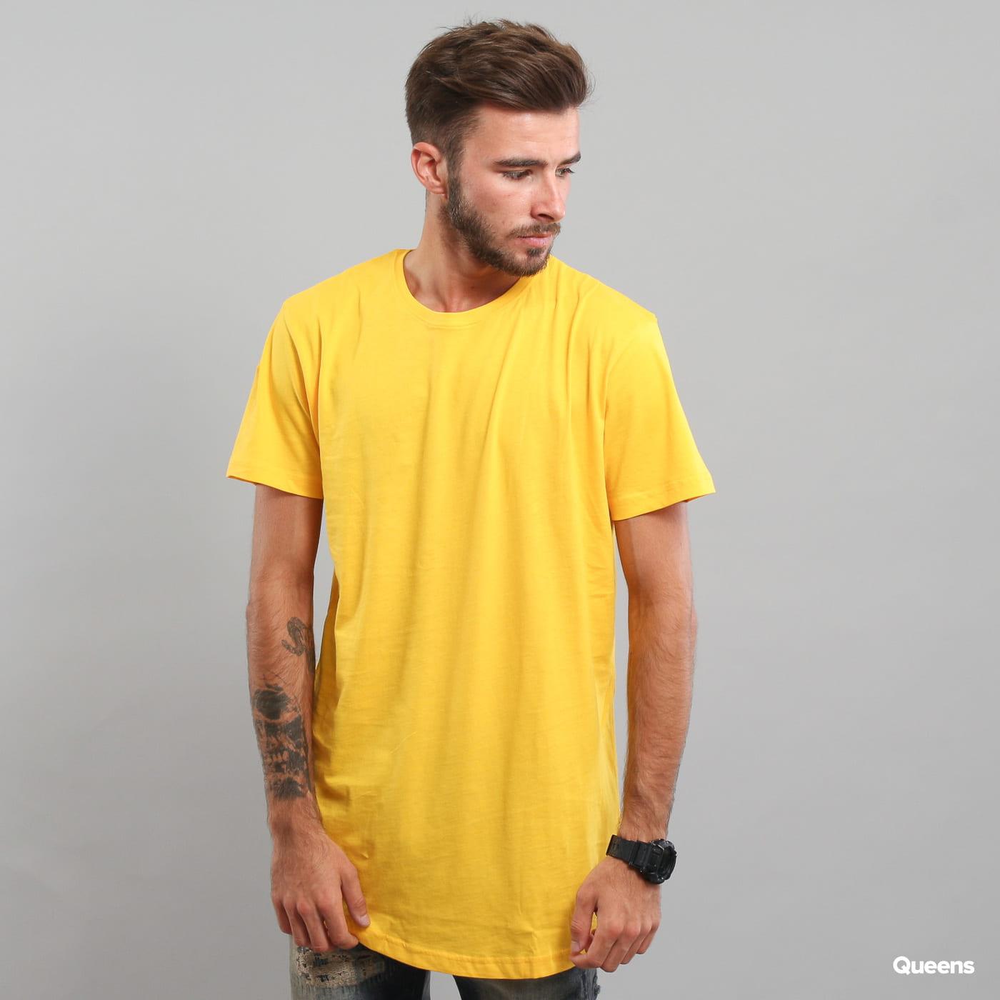 Urban Classics Shaped Long Tee yellow