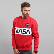Alpha Industries NASA Inlay Sweater červená