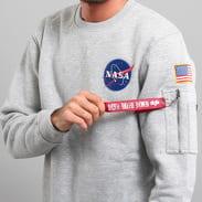 Alpha Industries Space Shuttle Sweater melange šedá