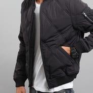Urban Classics Big Diamond Quilt Bomber Jacket černá