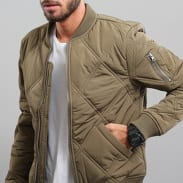Urban Classics Big Diamond Quilt Bomber Jacket olivová