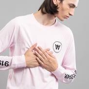 WOOD WOOD Han LS T-shirt růžové