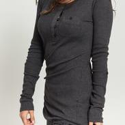Urban Classics Ladies Long Rib Pocket Turnup Tee tmavě šedé