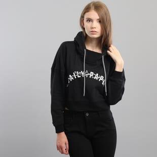 Daily Paper Black Carly Cropped Hoodie