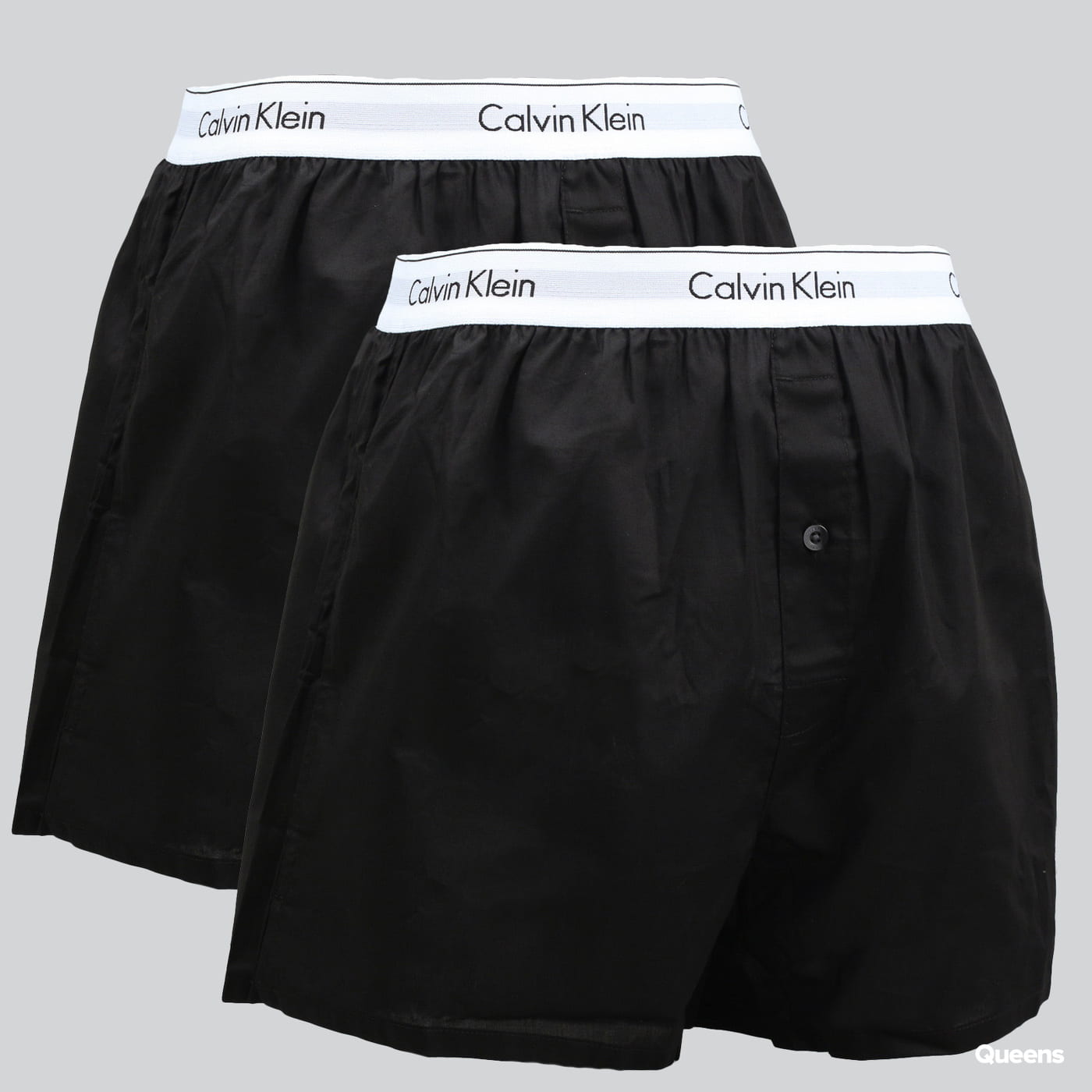 Calvin Klein 2 Pack Slim Fit Boxers C/O black