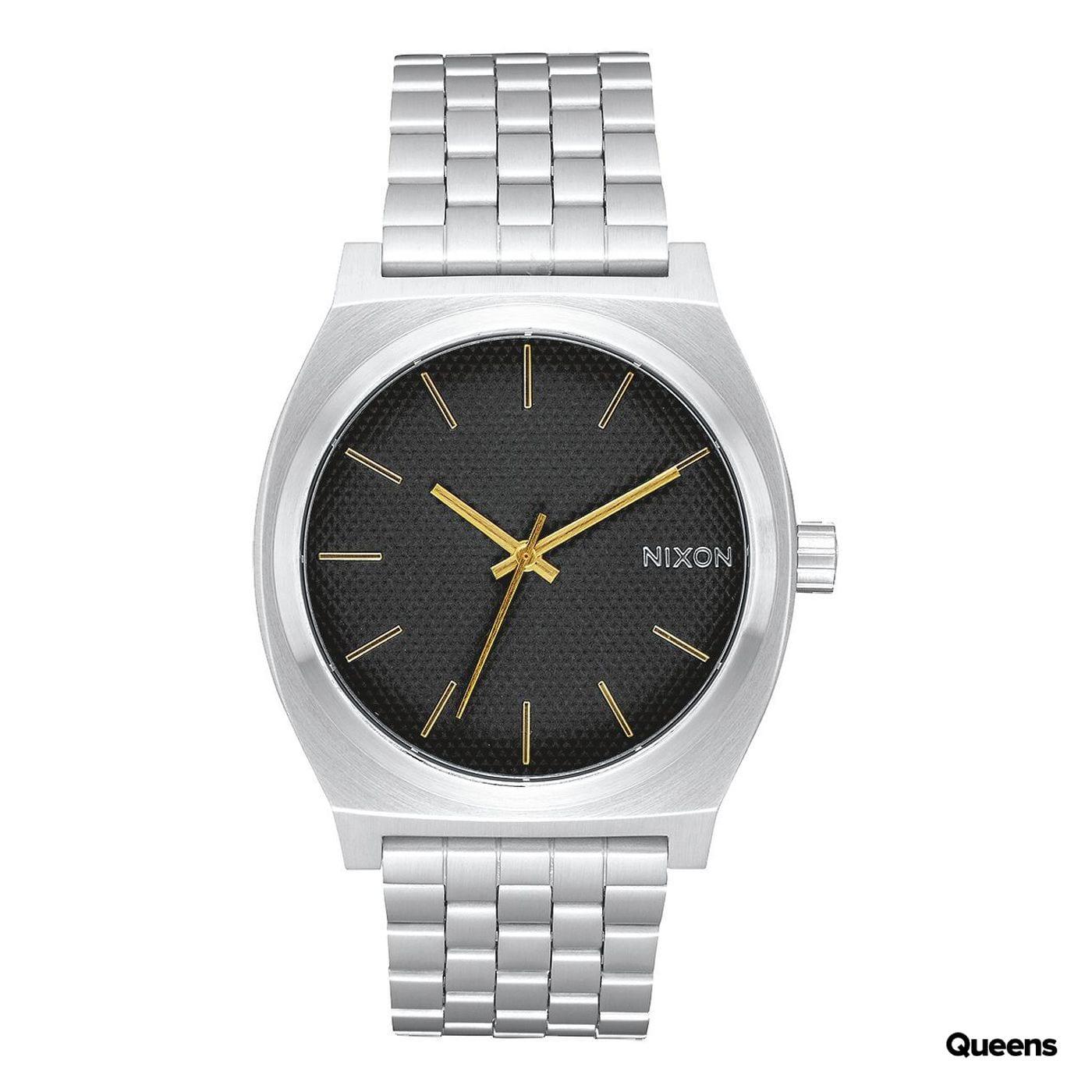 Nixon Time Teller silber / schwarz / gold