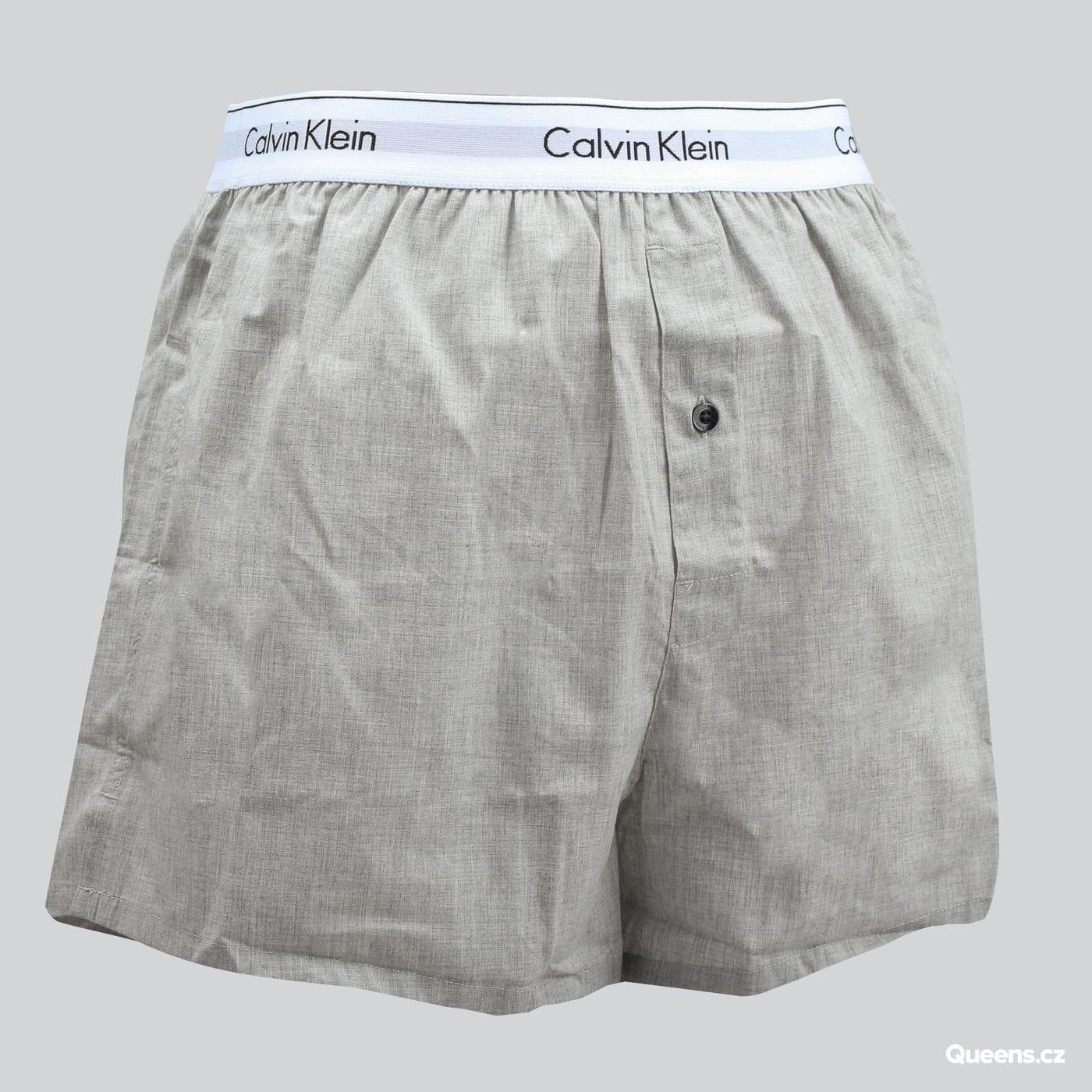 Calvin Klein 2 Pack Slim Fit Boxers C/O schwarz / melange grau