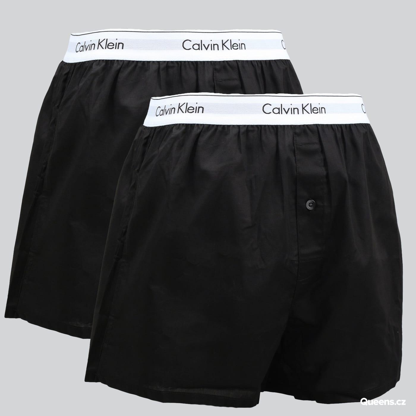 Calvin Klein 2 Pack Slim Fit Boxers C/O schwarz