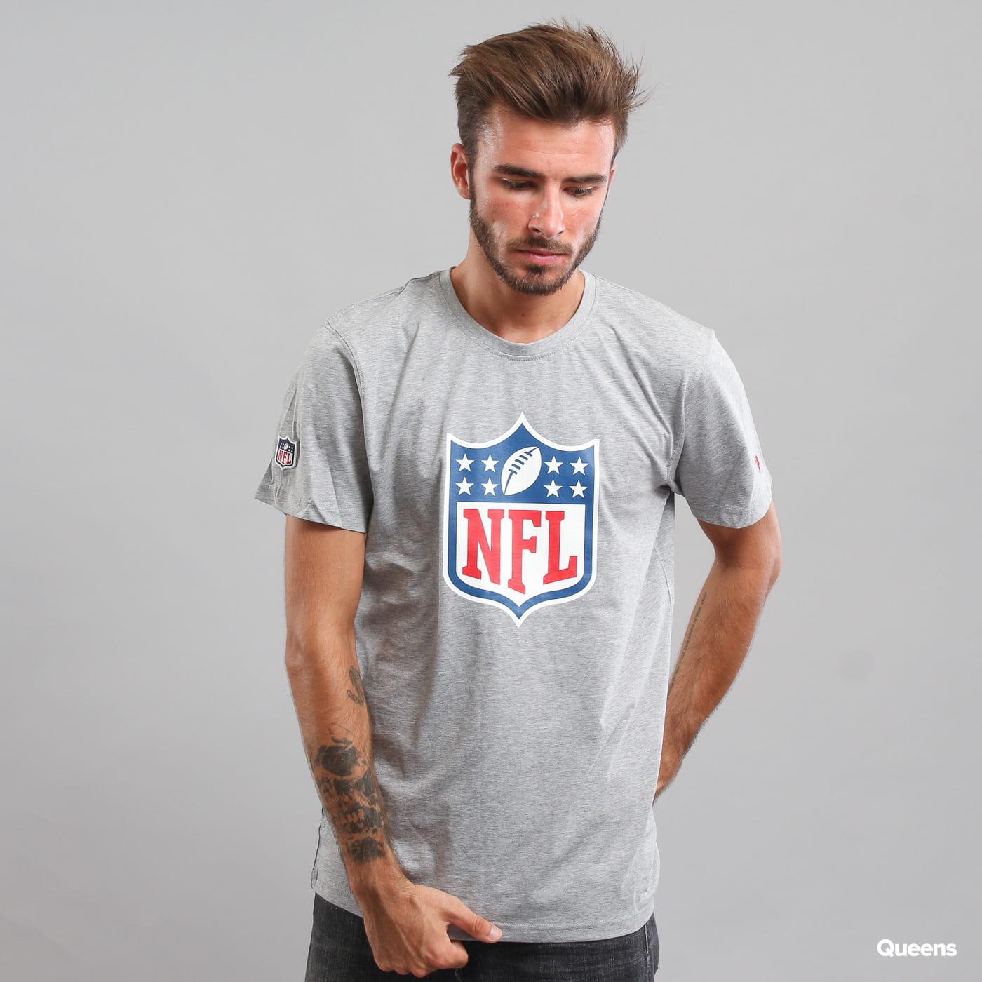 New Era NFL Team Logo Tee C/O melange šedé