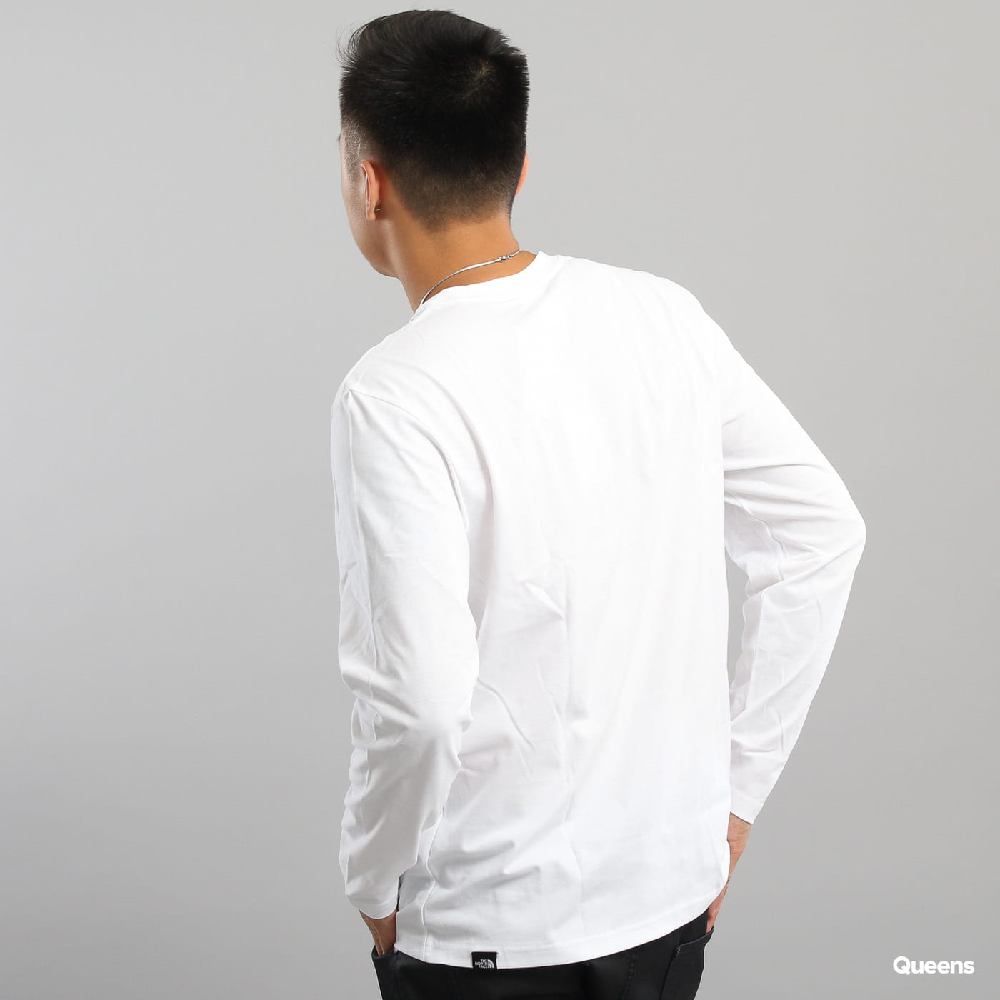 The North Face M L/S Fine Tee weiß